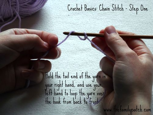 Family Patch Tutorial Chain Stitch Step One