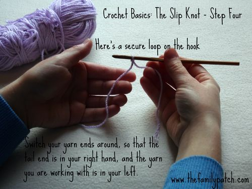 Family Patch Tutorial Slip Knot Step Four