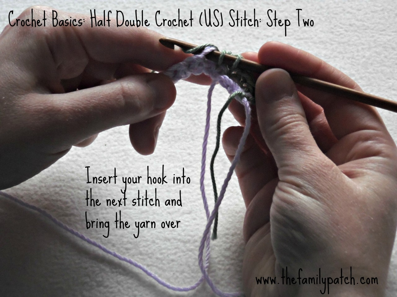 Crochet Basics Half Double Crochet Stitch Photo Tutorial