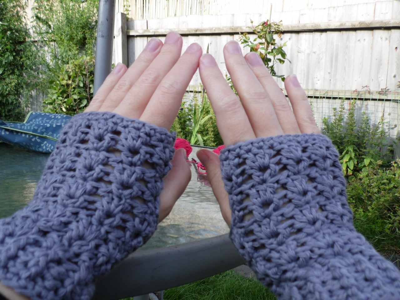 V Stitch Fingerless Gloves Crochet