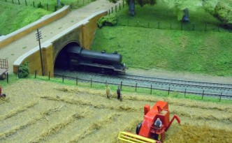 Model Railway and Combine Harvester