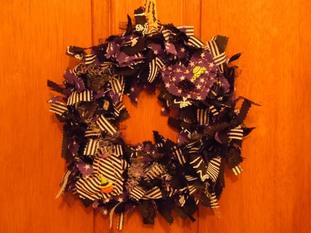 Handmade Halloween wreath from Ashleigh's