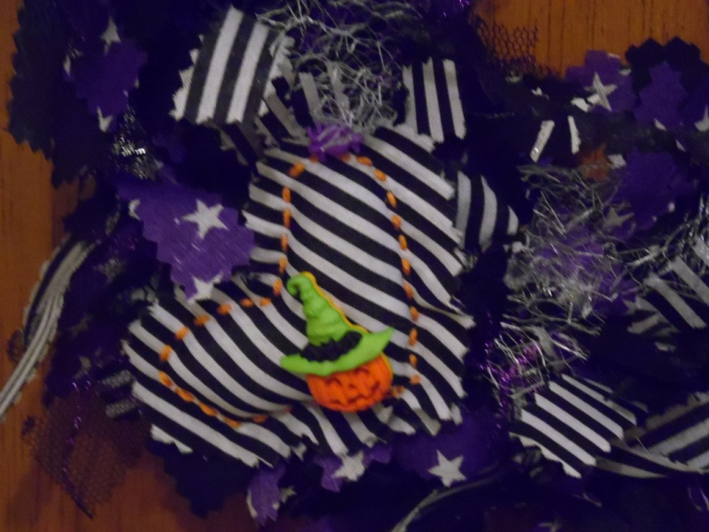 Halloween Wreath close up