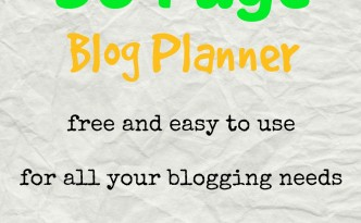 Free 30 Page Blog Planner