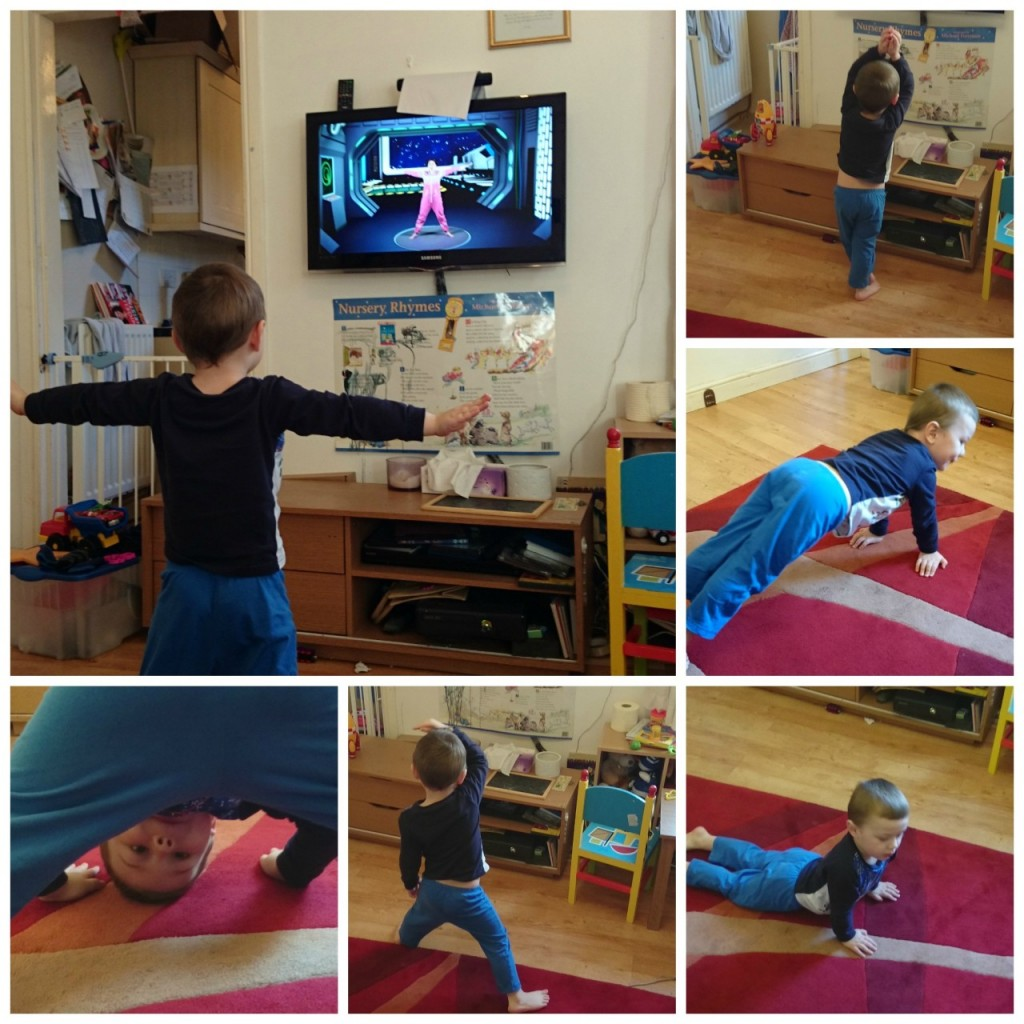 Little Man Cosmic Yoga Collage
