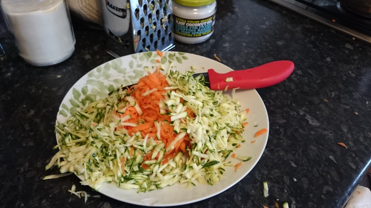 grated carrot and courgette base for Bolognese, hot pots and cottage pie
