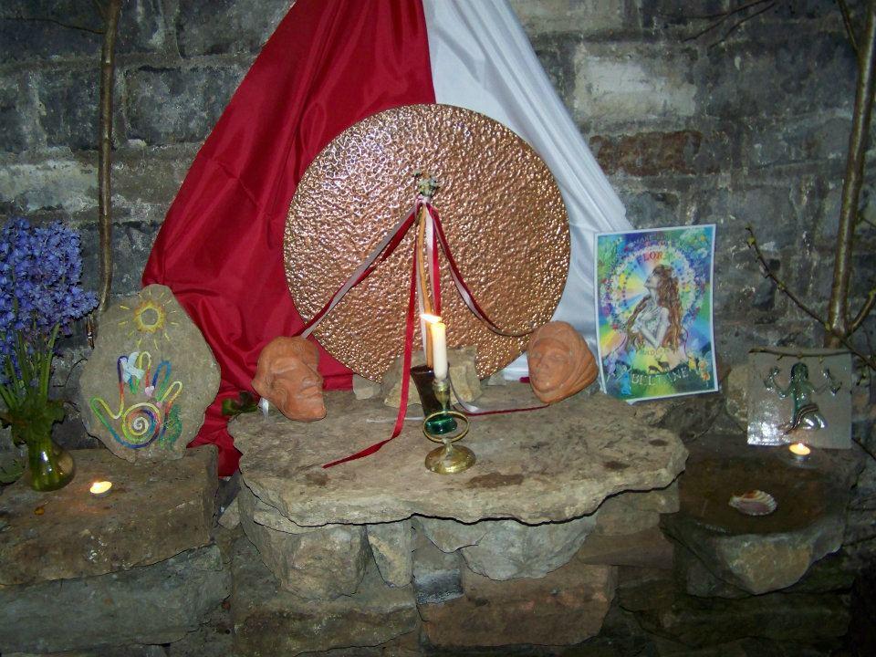 Beltane Altar White Spring Glastonbury 2012