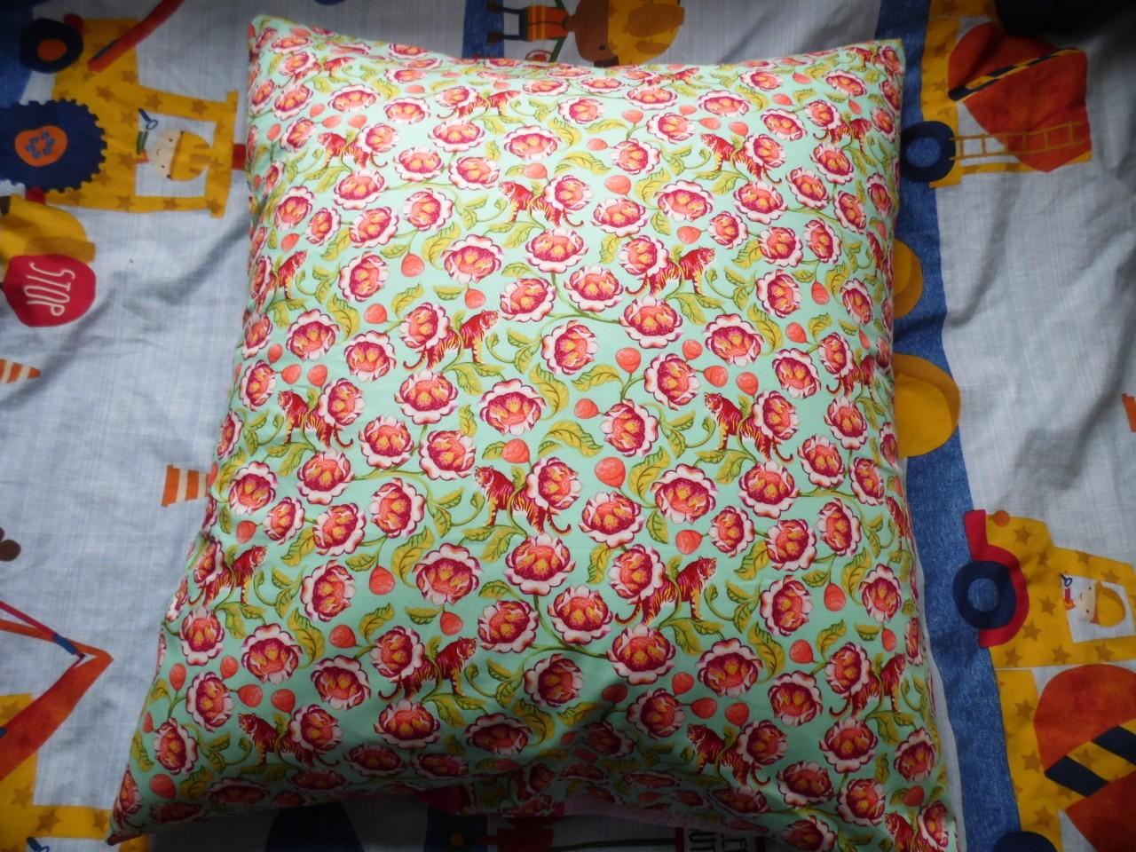 Back of Floor Pillow using Coats Crafts Fabrics