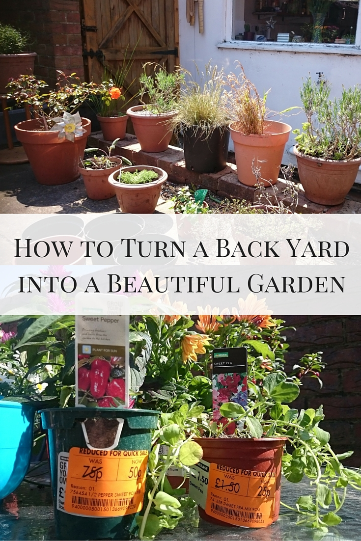 How to Turn a Back Yard into a Beautiful Garden on a budget