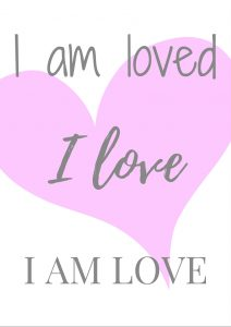 I am love free printable