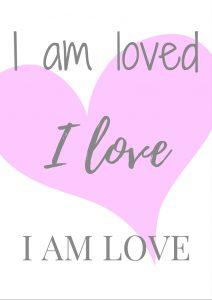 I am love free printable