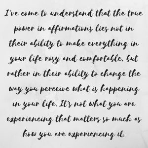 True power of affirmations instagram image