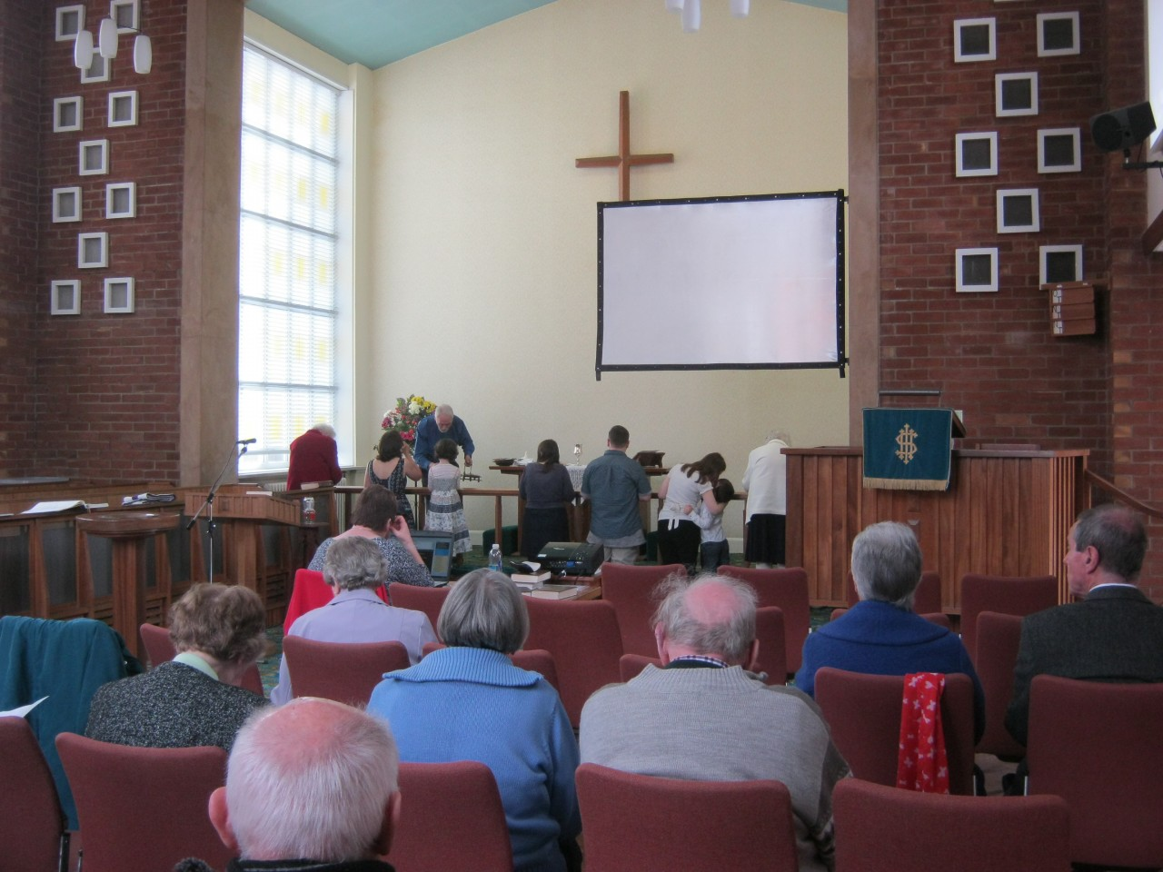 Communion following being Baptised