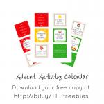 Free Activity Advent Calendar