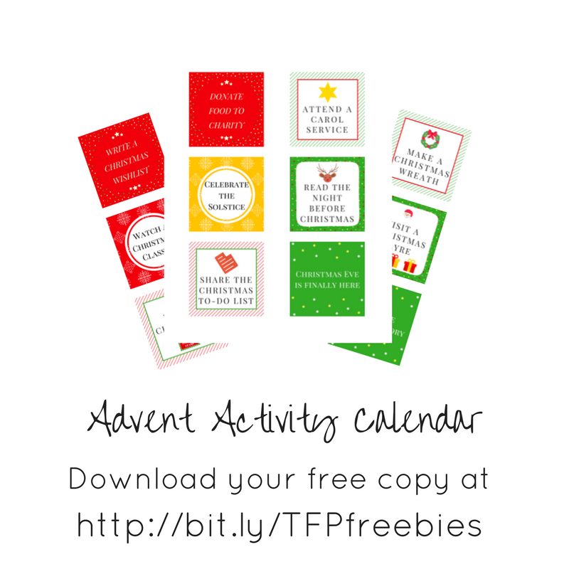 Free Activity Advent Calendar